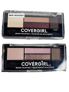 Covergirl Eye Shadow Quad In 720 And 730 Blooming Blushes And Cherry Soda