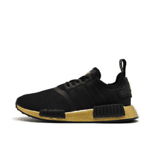 Big Kids' adidas NMD R1 Casual Shoes Black/Gold FW7692 001