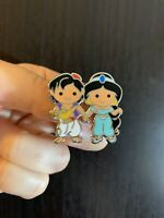 Tiny ALADDIN JASMINE Cuties PRINCESS COUPLES Pin - Fantasyland Disneyland LE 750