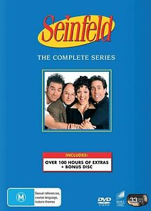 BRAND NEW Seinfeld : The Complete Series 1-9 (DVD, 33-Disc Set) R4 BONUS DISC