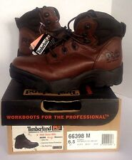 """Timberland 6"""" Pro Zone STL Boots Brown 66398 Steel Toe Lace Up Women Sz 6.5 NWT"""