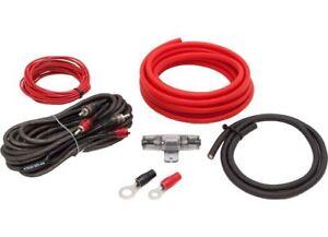 Sistema de Audio Ofc Juego Cables 20mm ² Kit Conexión Coche Amplificador Cobre