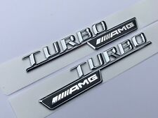 Mercedes-Benz W117 CLA W176 A45 GLA 45 C63 E63 AMG turbo aile latérale Badge Logo