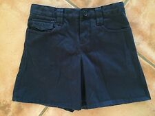 ☀️GAP KIDS Girls Navy Blue Pleated Skirt Skort Shorts Uniform Adj Waist 6 MINT