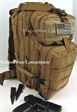 Tactical Backpack Gun Holster Included HEAVY DUTY Tan Concealment FREE GIFTS