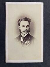 Victorian Carte De Visite CDV: Dapper Gentleman: Gibbs & Barry: Middlesbrough