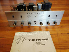 Fisher X-100-B Tube Stereo Master Control Integrated Amplifier with Manual