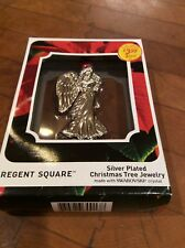 Regent Square Silver Plated Angel Tree Ornament with Swarovski Crystal New