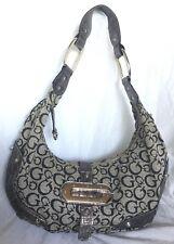 Large GUESS Faux Leather/Fabric Hobo/Shoulder Bag / Handbag