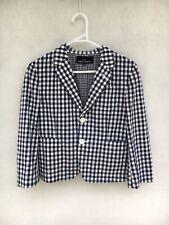 🍁 Womens Comme Des Garcons Tricot Cotton 3/4 Sleeve Check Shirt Jacket Size M
