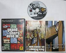GRAND THEFT AUTO III Sony PlayStation 2 PS2 Rockstar 2001 w/ Manual & Map GTA3
