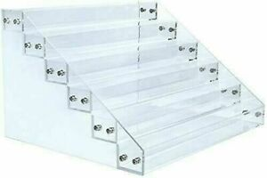 Clear Acrylic 6 Tier Display Shelf Showcase for Action Figures Paint Miniatures