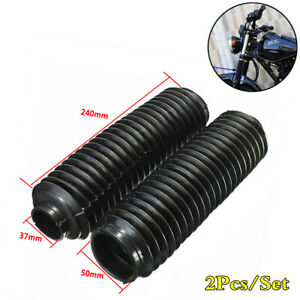 Motorcycle Front Fork Dust Waterproof Cover Black Plastic Protect Gaiters Boots