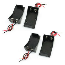 "4x Battery Storage Case Slot Holder for 9V Batteries w 5.9"" Wire Leads DT"