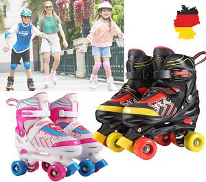 Rollschuhe für Kinder Anfänger Verstellbare Rollschuhe PU-Rädern Größe 31-38