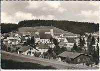 """Ansichtskarte Schönwald im Schwarzwald """"Stadtansicht / Nahaufnahme"""" schwarz/weiß"""