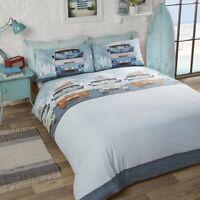 Rapport Campervan Retro Nautical Duvet/Quilt Cover Bedding Set Blue