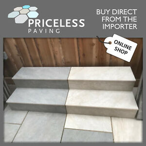Porcelain Paving Rectified Vitrified Patio BULLNOSED STEPS RISERS in 8 COLOURS