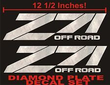 Z71 Offroad Decals (Set) DIAMOND PLATE CHROME for Chevrolet Silverado CHEVY
