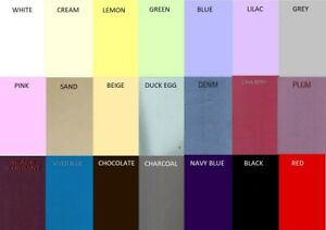 """Custom made polycotton base valance sheets 2ft 6"""" wide x 5ft to 6ft 6"""" length"""