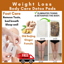 10 Ginger Herbal Detox Foot Patches Pads Toxins Removal Weight Loss Constipation