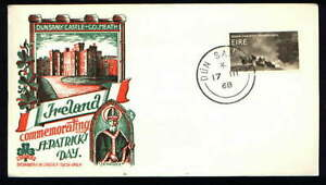 DUNSANY Castle St Patrick's Day Scarce Ireland Staehle Cachet FDC 1968   (IR2)