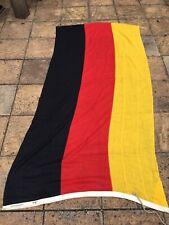 More details for large 256cm vintage german stitched panel flag germany tricolour deutschland