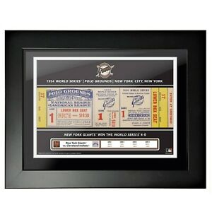 New York Giants Polo Grounds 1954 World Series Game 1 Ticket Photo Framed