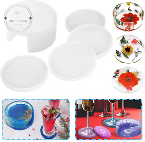 New ListingCoaster Molds for Resin Casting Round Resin Coaster Molds Silicone Coaster St.
