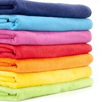 LARGE 100% COTTON BEACH TOWEL BATH SHETT HOLIDAY TOWELS PURE COLOR 70x140CM