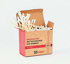 99PANDAS® Nachhaltige Bambus Wattestäbchen (200 Stück) | 100%Natur & plastikfrei