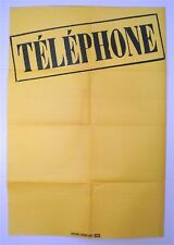 GROUPE « TELEPHONE » - AFFICHE ORIGINALE DE CONCERT- TRES RARE - 1979