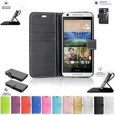 HTC Desire 626/650 Libro Bolsa Funda Cartera De Cuero Teléfono Negro Rosa