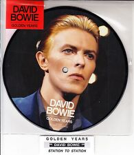 "DAVID BOWIE  Golden Years PICTURE DISC  7"" 45 record BRAND NEW + juke box strip"