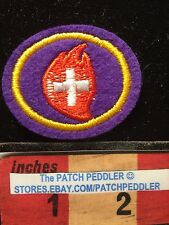 Pathfinder Red Alert Merit Badge Jacket Patch Smallish Embroidered Felt 62Z6