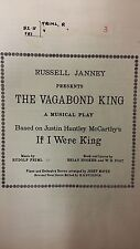 Friml: The Vagabond King: Music Score (F6)