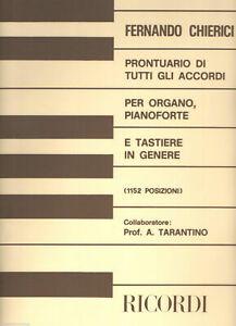 Chierici Prontuario Di Tutti Gli Accordi per pianoforte organo e tastiere 1152 p