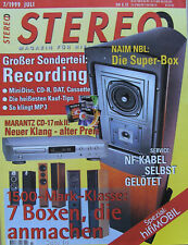 Stereo 7/99 B & W DM 603, Mission 773E, Marantz CD17, Manley Stingray, Tannoy R2