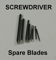 SET SPARE SCREWDRIVER BLADES x9 NEW 0.5mm - 3mm watchmakers watch repairs tool