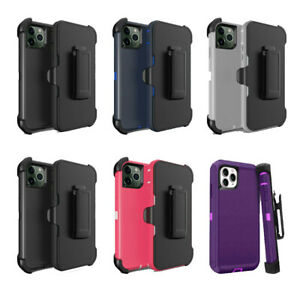 Lot/6 Protective Defender Case With Clip iPhone 6, 7, 8, X, 11, 12 Wholesale
