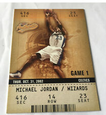 2002-03 Michael Jordan Fleer Authentic Gold Game 1 Card/ Wizards  #72