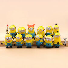 12pcs Cute Despicable Me 2 Minions Movie Character Figures Doll Toy Gift Set Hot