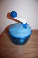 Tupperware Quickchef 2 Küchenmaschine Zerkleinerer Reibe Raspel Häcksler blau