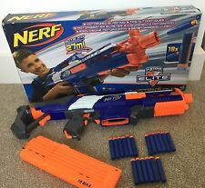 Nerf Elite N-Strike Rapidstrike CS-18 Gun Boxed 18 Foam Bullets Magazine Bundle