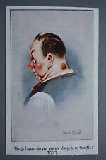 R&L Postcard: Inter Art Donald McGill 3027, Red Nose Man with Boil Spot