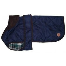 Country Pet Outdoor Stylish Quilted Dog Coat/Jacket – NAVY BLUE – 45cm/18 inches
