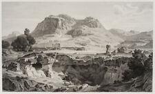 E.ADLER-MESNARD(*1845) nach KLOSE, Apollotempel von Korinth, Radierung