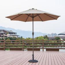 2.7 Meter Garden Parasol Sun Shade Table Patio Umbrella Steel With Crank Handle