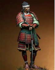 Unpainted Kit 1/18 90mm Japanese samurai with sword 90mm figure Historical WWII