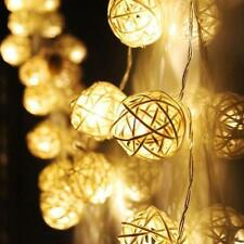 20 LED Color Rattan Ball String Fairy Lights For Romantic Xmas Wedding Party